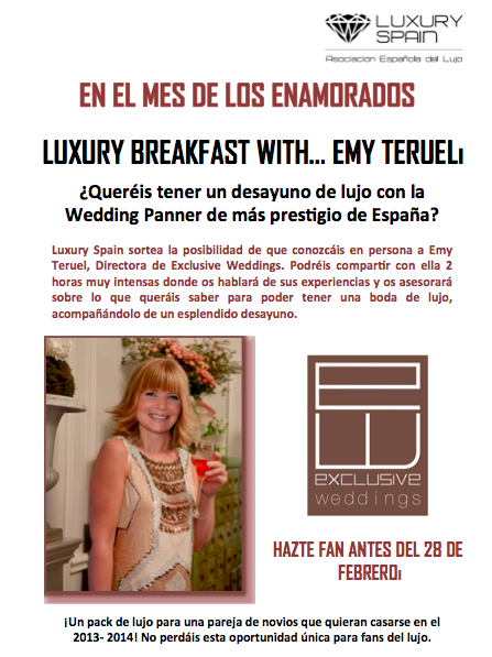 Desayuno con Emy Teruel de Exclusive Weddings